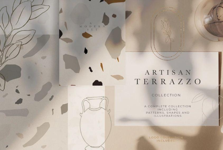 Modern Terrazzo Pattern Textures