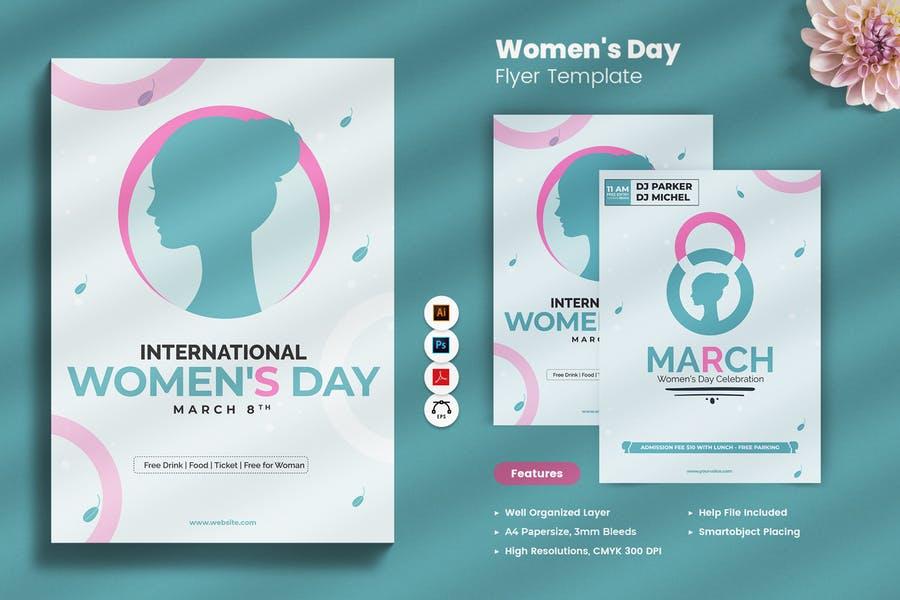 Modern Women's Day Flyer