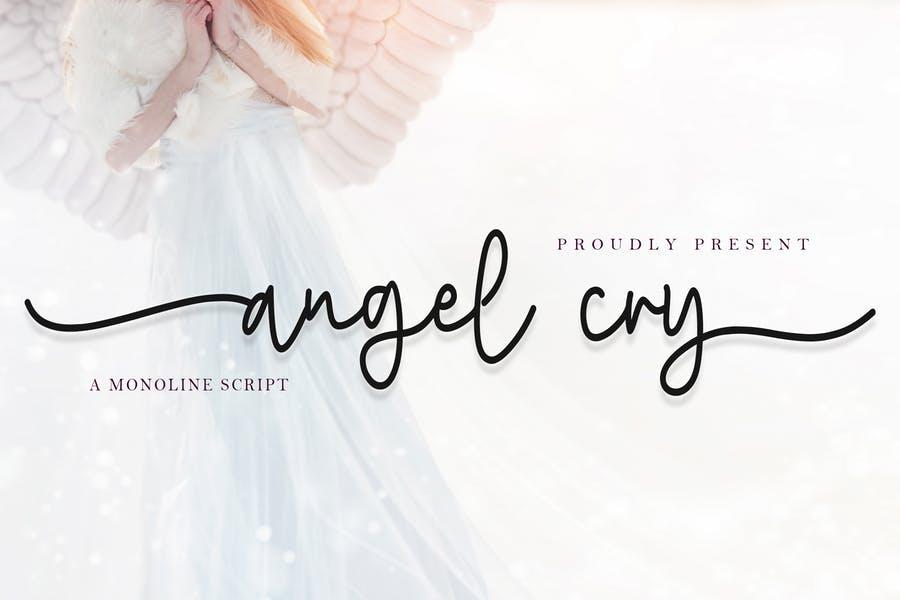 Monoline Angel Typefaces