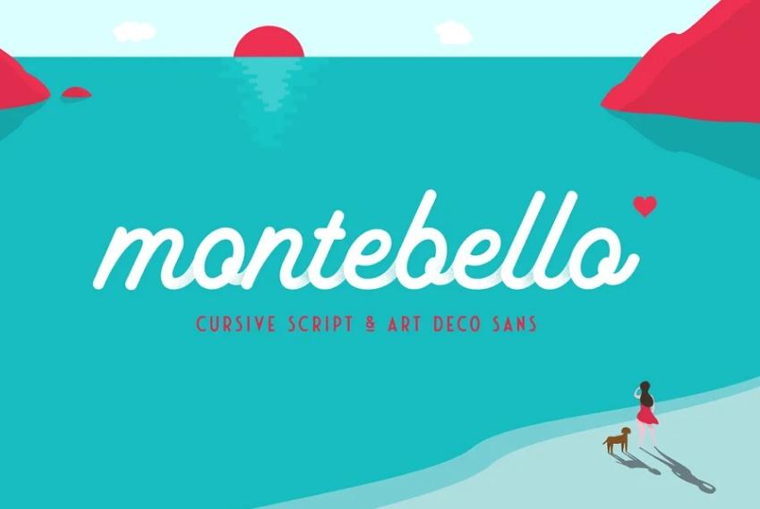 Monoline Cursive San Serif Fonts