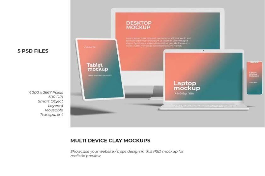 Multi Device Clay Mockups