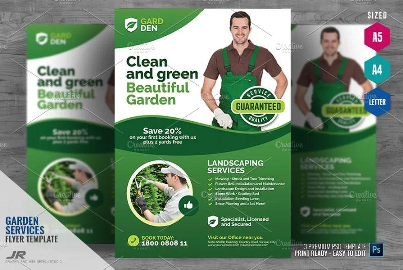 Multi Size Gardening Services Flyer