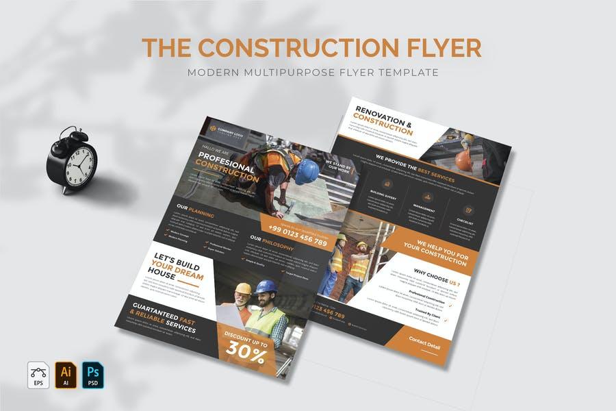 Multipurpose Construction Flyers