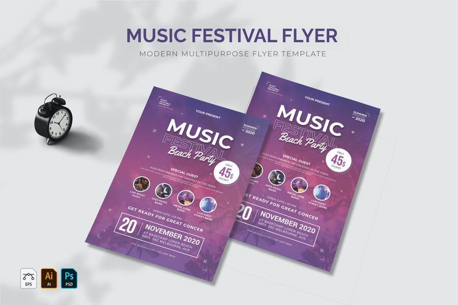 Music Festival Flyer Design
