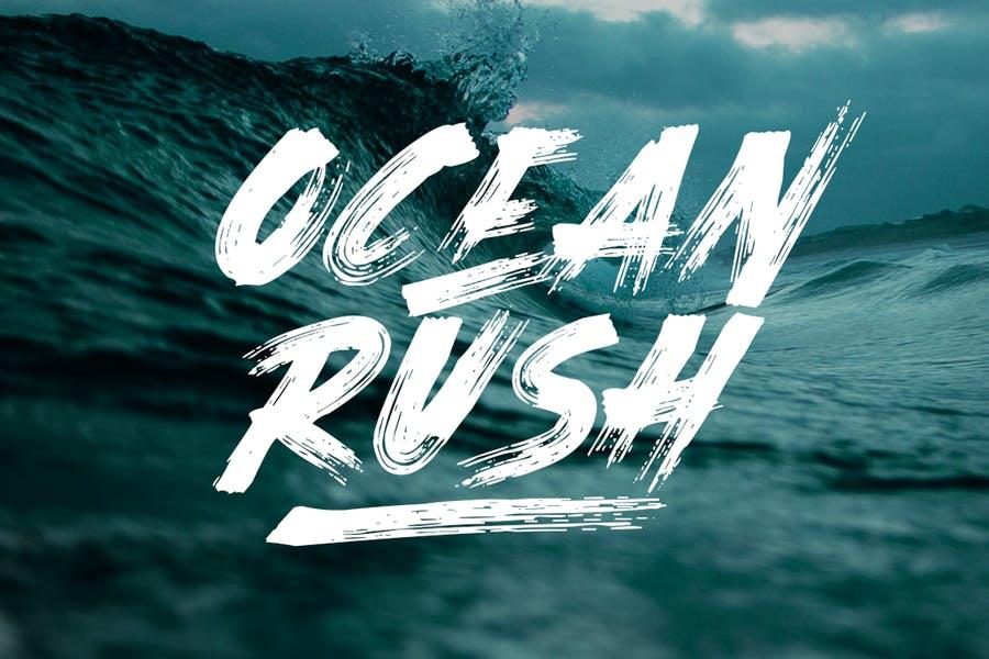 Ocean Aesthetic Brush Fonts