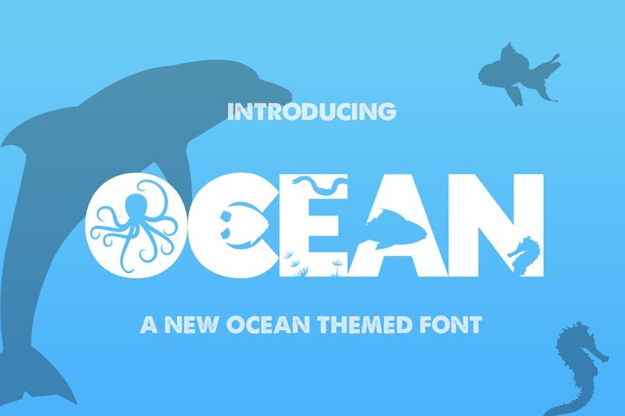 Ocean Themed Typeface