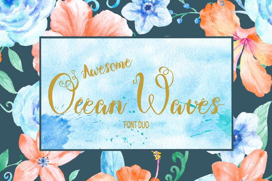 Ocean Waves Font Duo