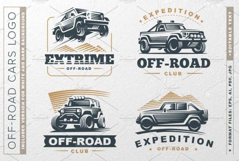 Off Road Cars Logo Templates