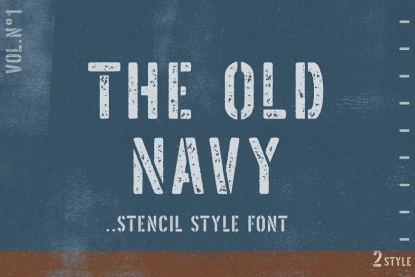 Old Navy Style Fonts