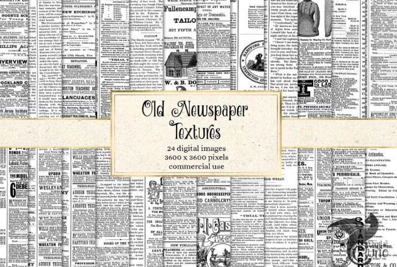 Old Newspaper Textures Set