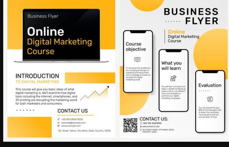 Online Marketing Flyer Template Free