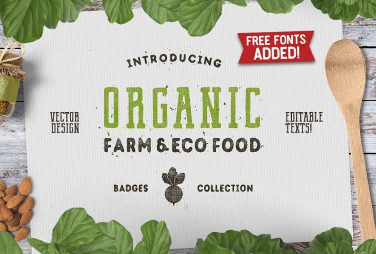 Organic Logo Designs and Badges