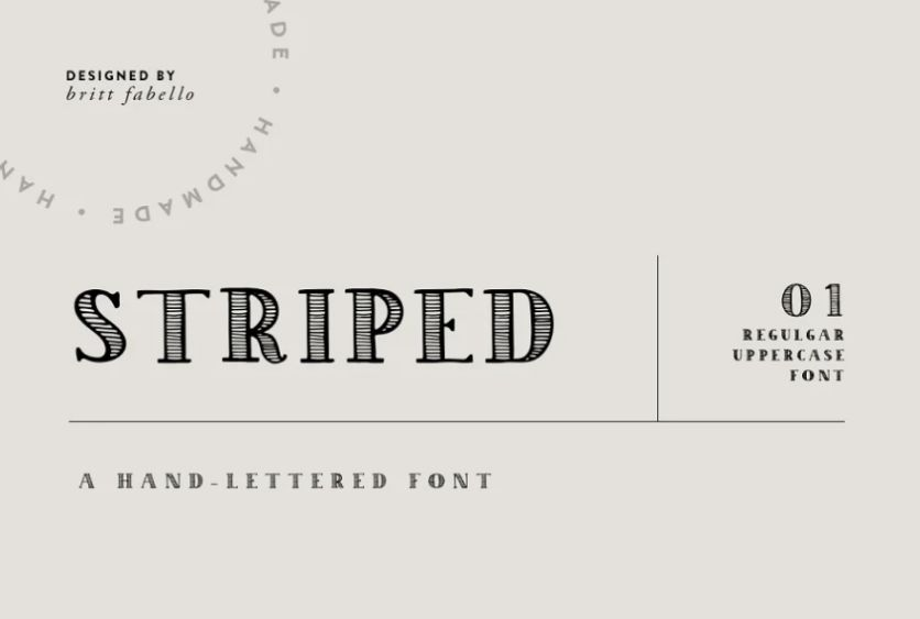 Organic Style Lined Fonts