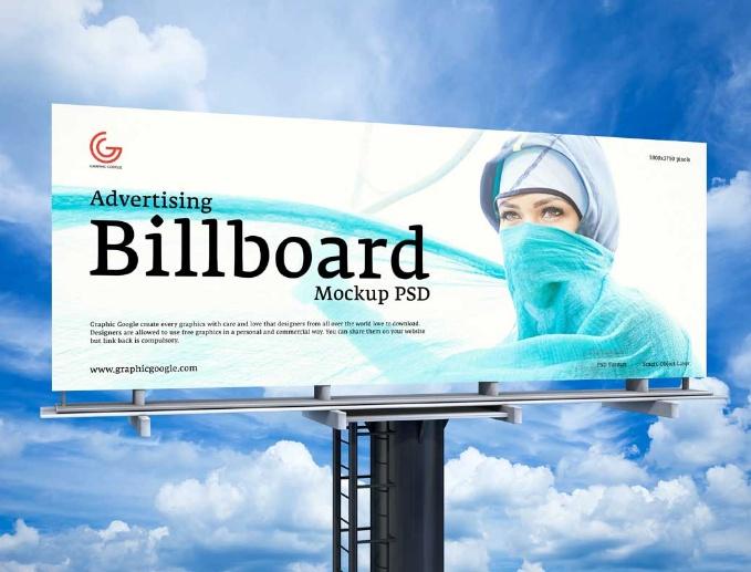 Outdor Media Billboard Mockup