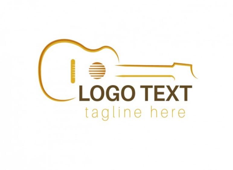 Outline Guitar Logo
