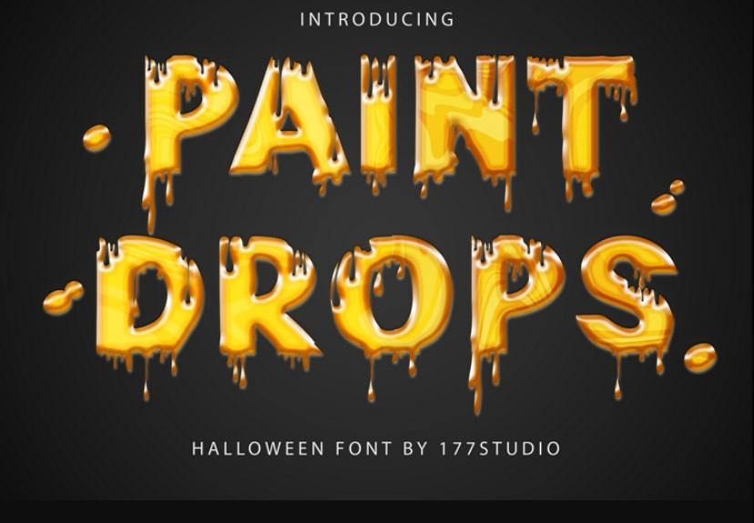 Paint Drops Typefaces