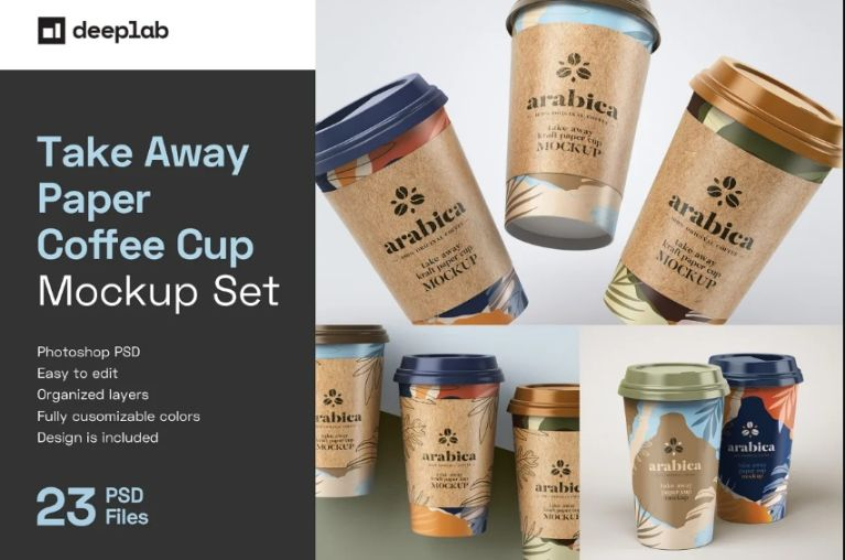 Paper Coffee Cup Mockups