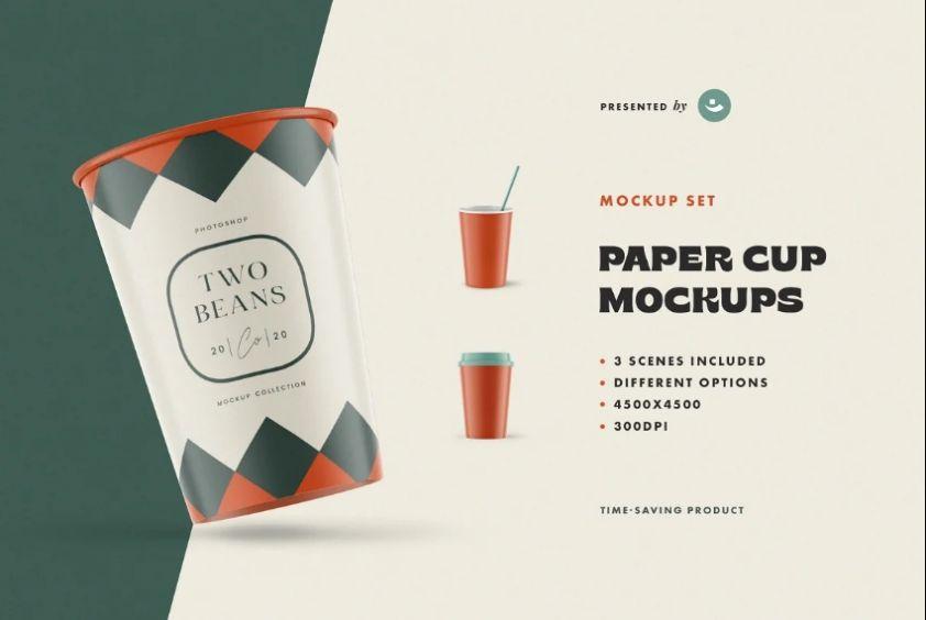 Paper Cup Branding Mockups