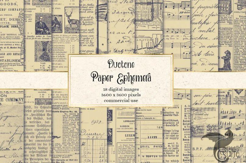 Paper Ephemera Textures