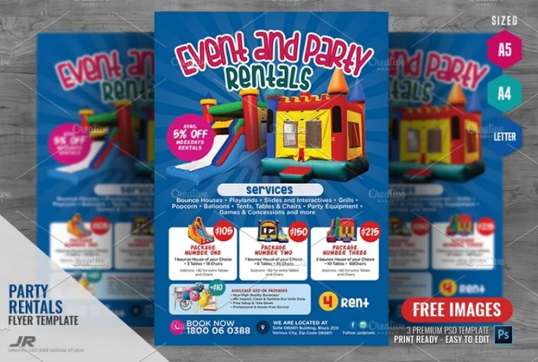 Party Services Flyer Template