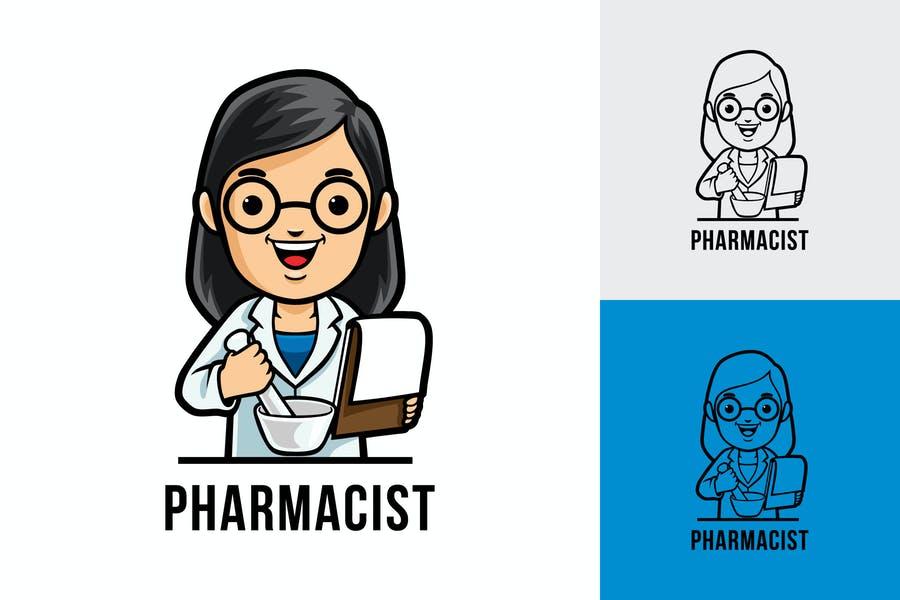 Pharmacist Mascot Logo