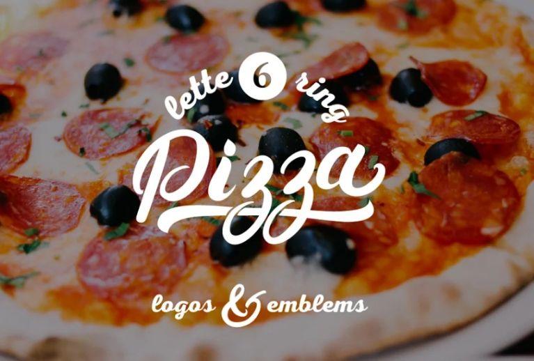Pizza Lettering Logotype Design