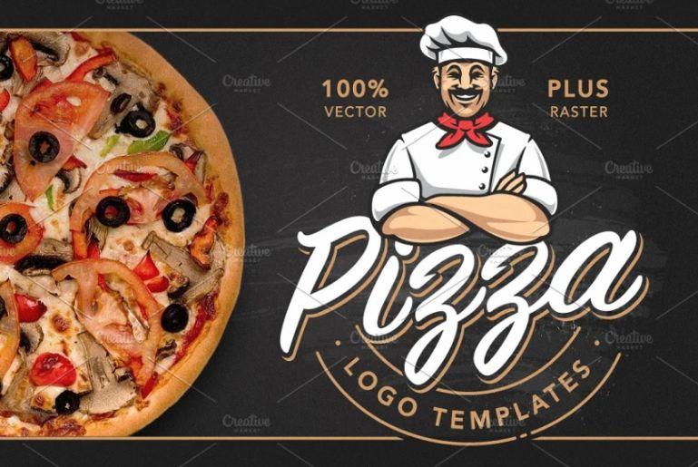 Pizza Logo Design Illustrations