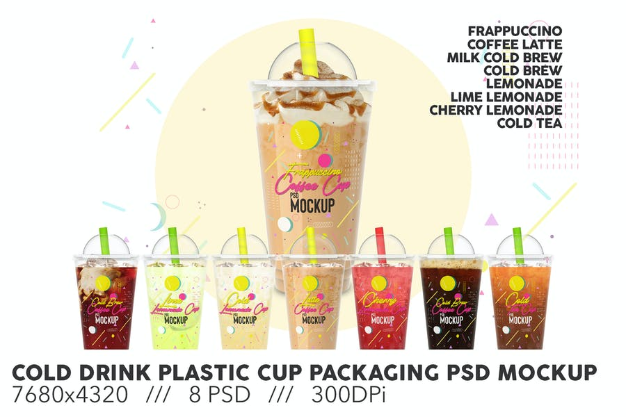 Plastic Cup Packaging Mockup PSD