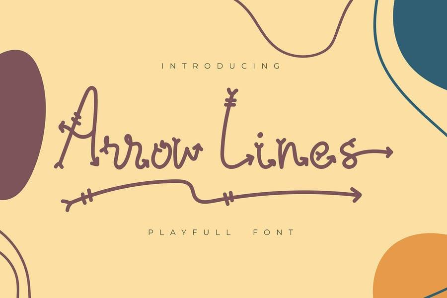 Playful Arrow Line Fonts