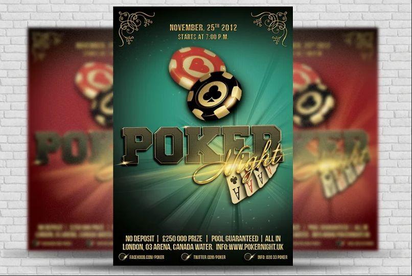 Poker Advertising Flyer Template