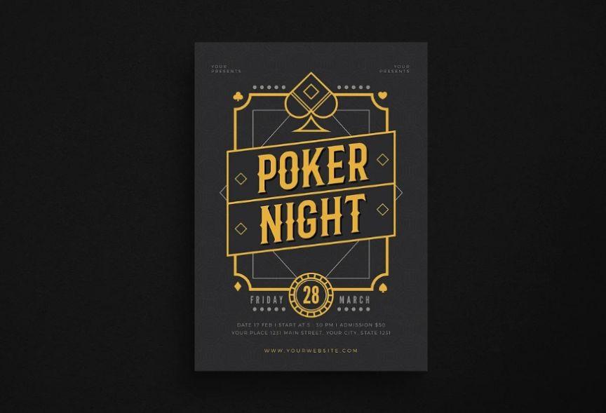 Poker Night Event Flyer
