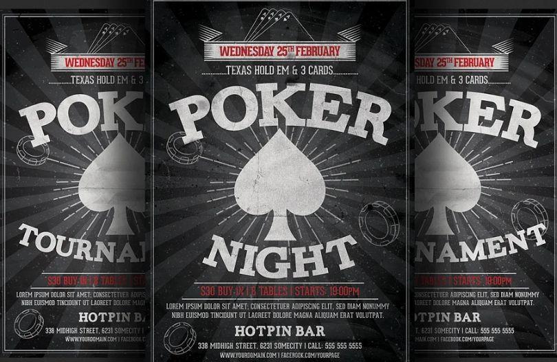 Poker Night Flyer Templates