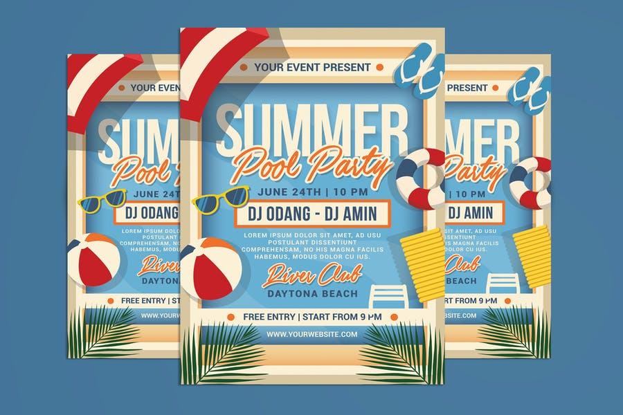 Pool Party Rental Flyer