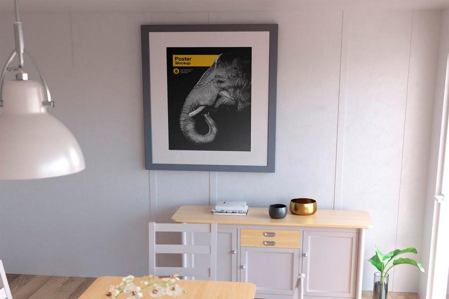 Poster in Room Mockup PSD