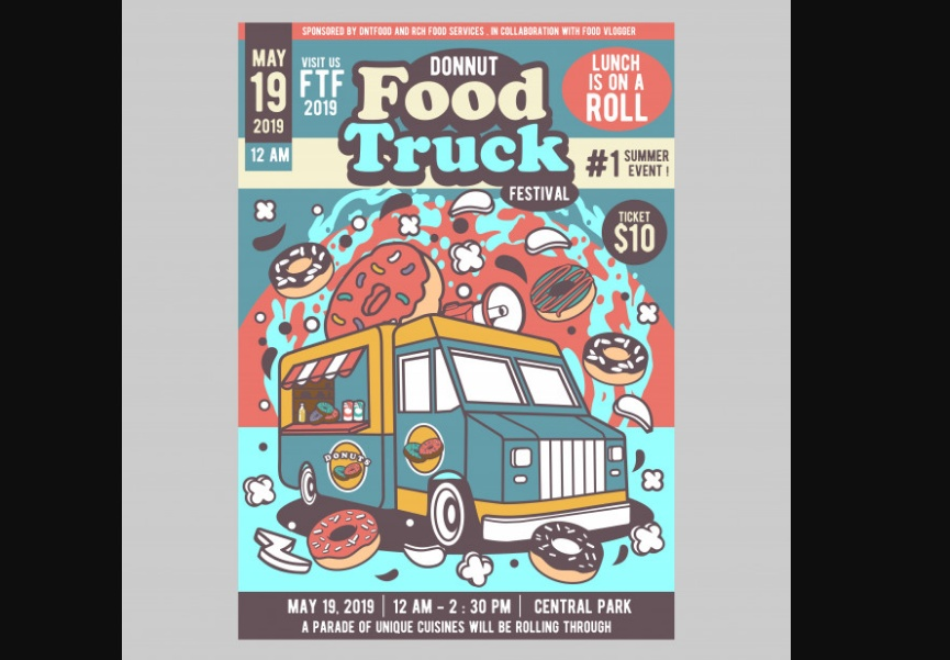 Premium Food Truck Flyers