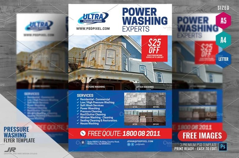 Pressure Cleaning Flyer Template