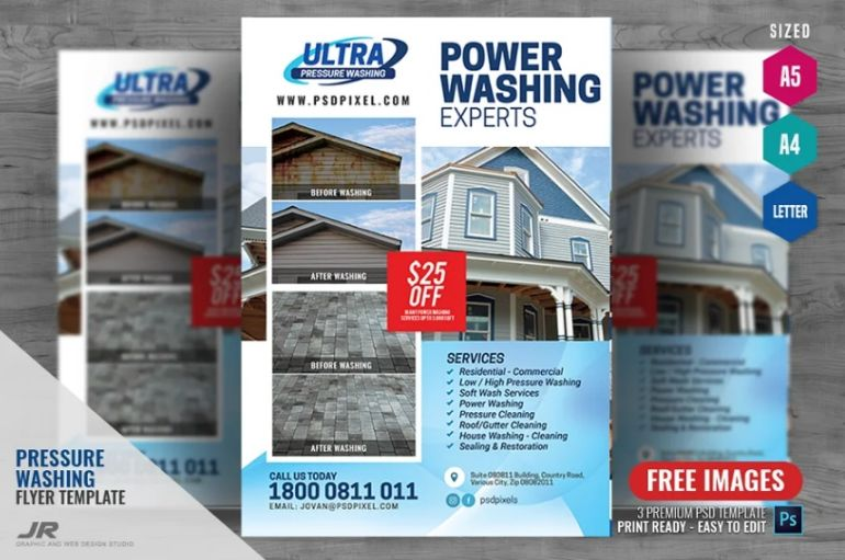 Pressure Washing Services Flyers