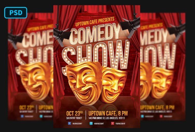 Print Ready Comedy Flyer Design