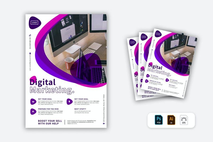 Print Ready Marketing Agency Flyer
