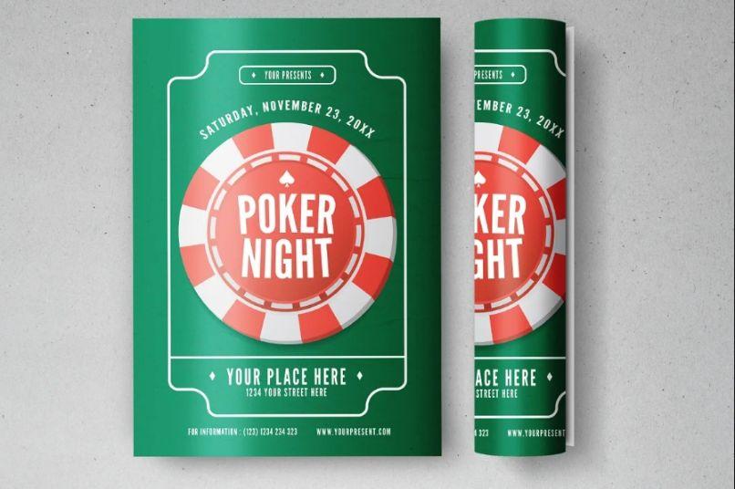 Print Ready Poker Night Flyer