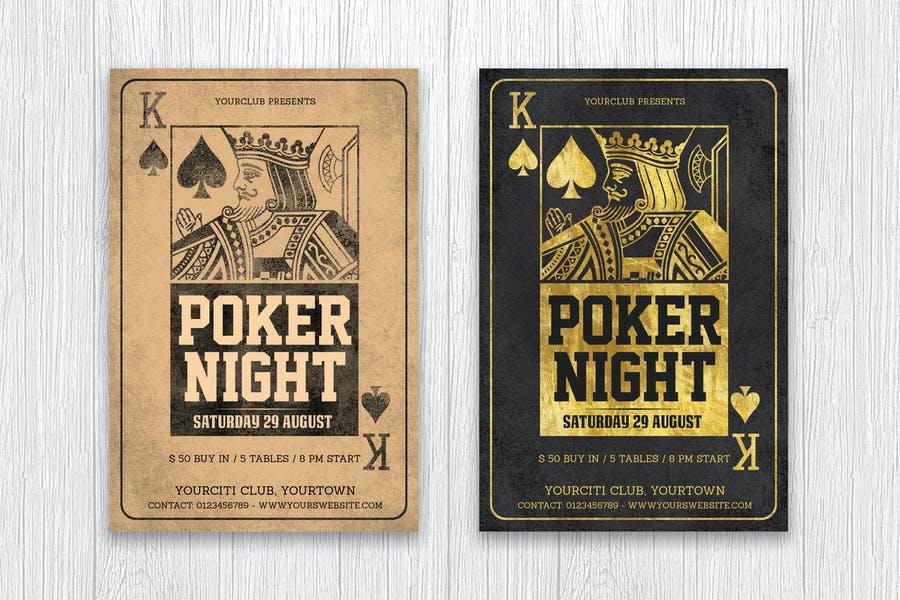 Print Ready Poker Poster Template
