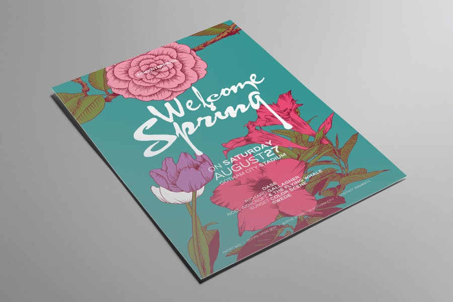 Print Ready Spring Party Flyer