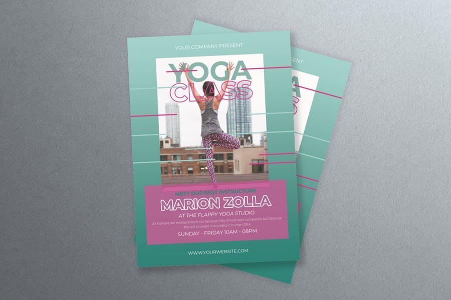 Print Ready Yoga Flyer