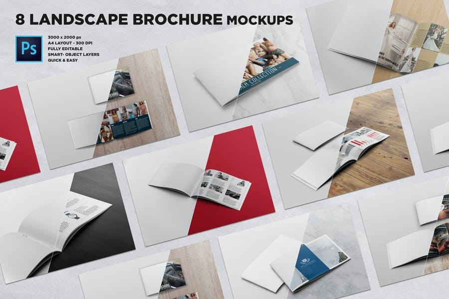 Printable Brochure Mockups PSD