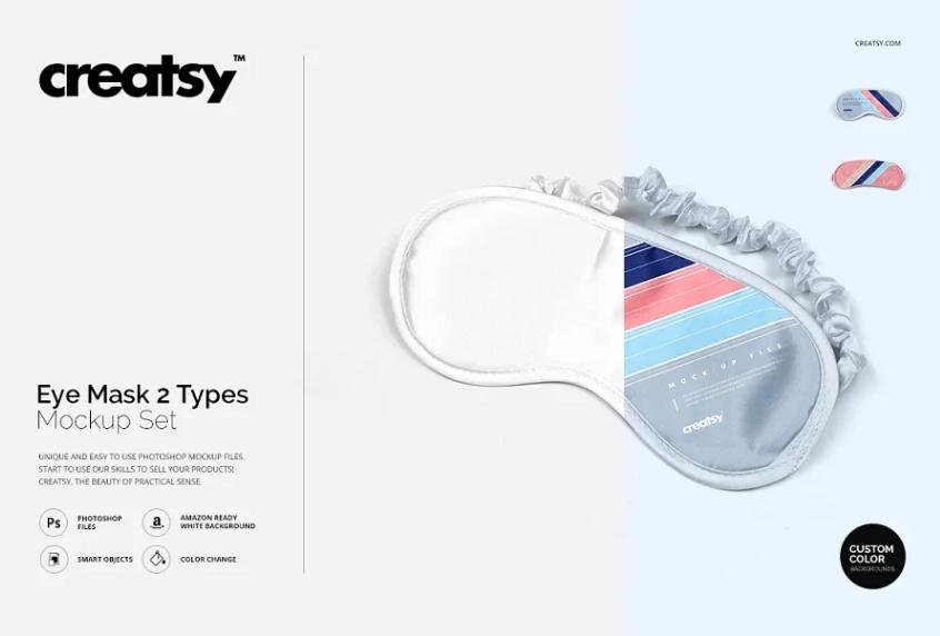 Printable Eye Mask Mockup PSD