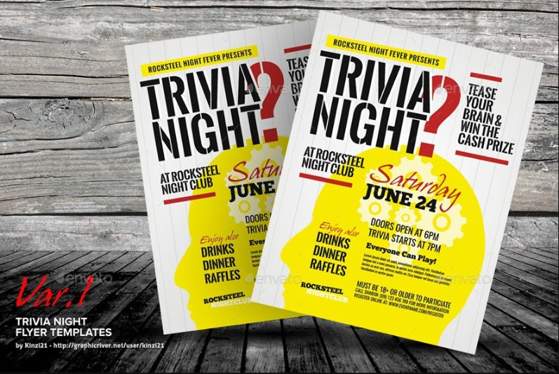 Printable Quiz Night Flyer
