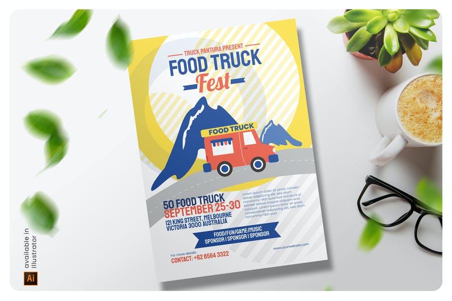 Printable Street Food Flyers