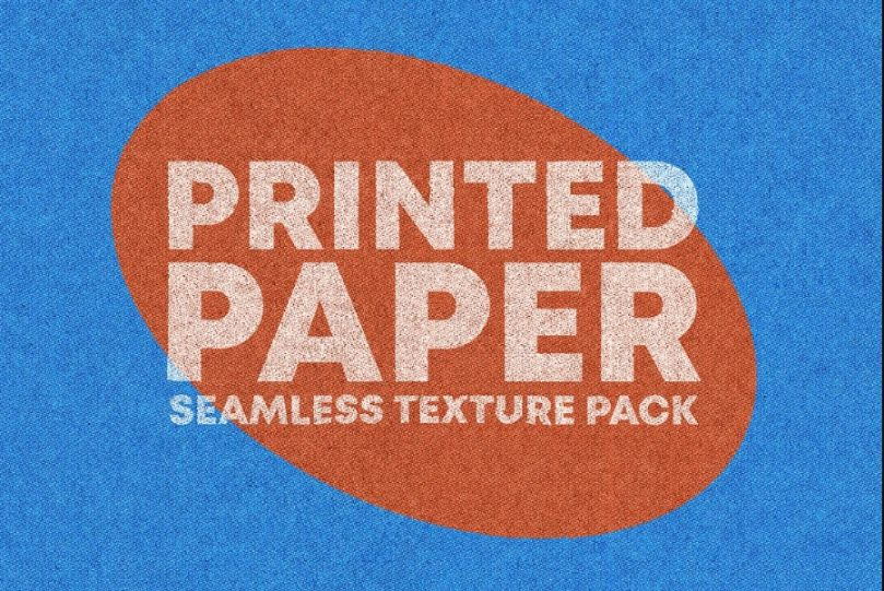 Printed Paper Seamless Texture