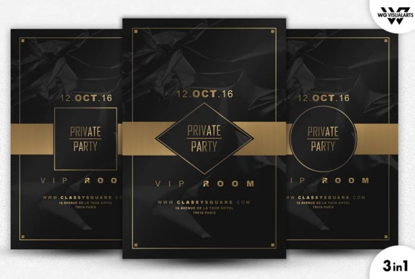 Private VIP Party Flyer