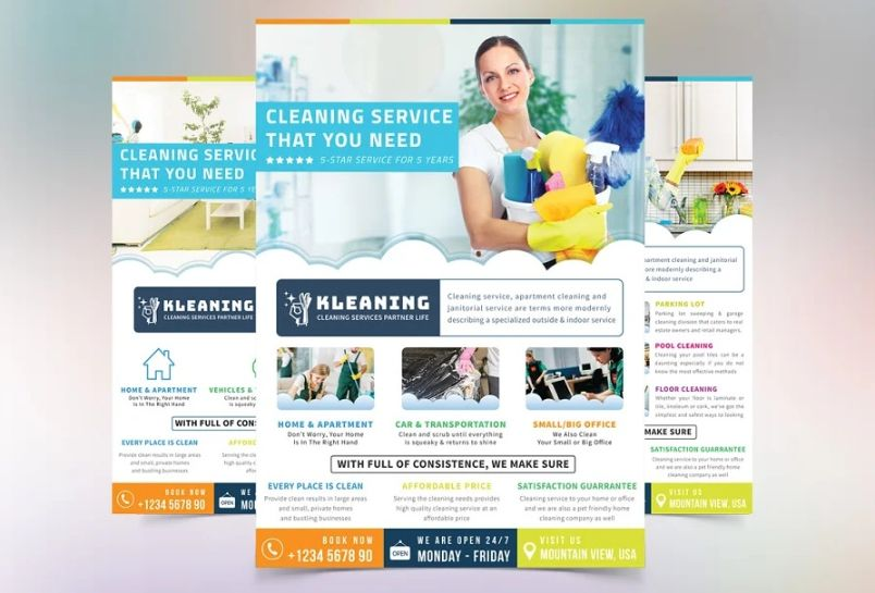 Professional Cleaning Contractor Flyer